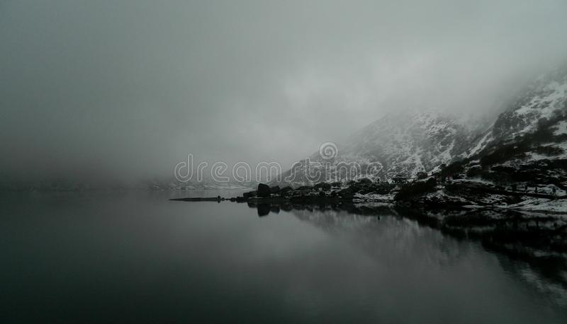 Lago Tsomgo fotografia de stock royalty free