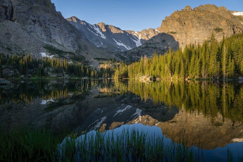 Lago Vale - Rocky Mountain National Park fotografia stock