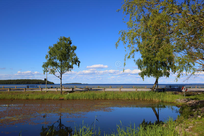 Lago Vattern in Svezia immagine stock libera da diritti