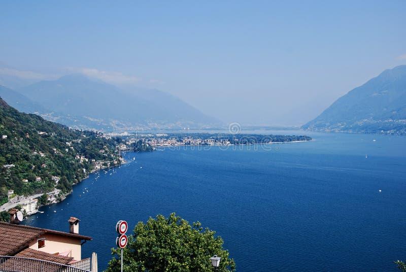 Lago Verbano e Locarno immagini stock libere da diritti