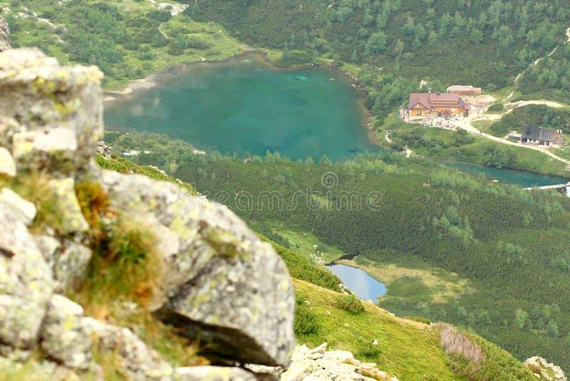 Lago verde foto de archivo