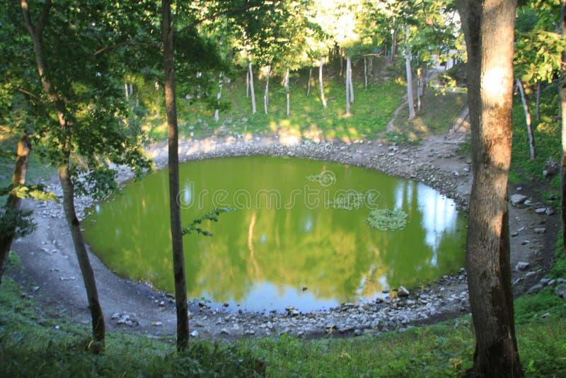 Lago verde fotografia stock
