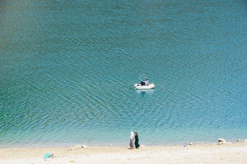 Lago verde Marruecos imagen de archivo