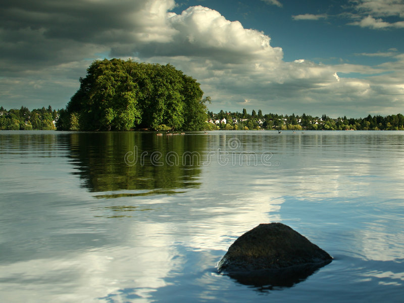 Lago verde, Seattle fotografia de stock