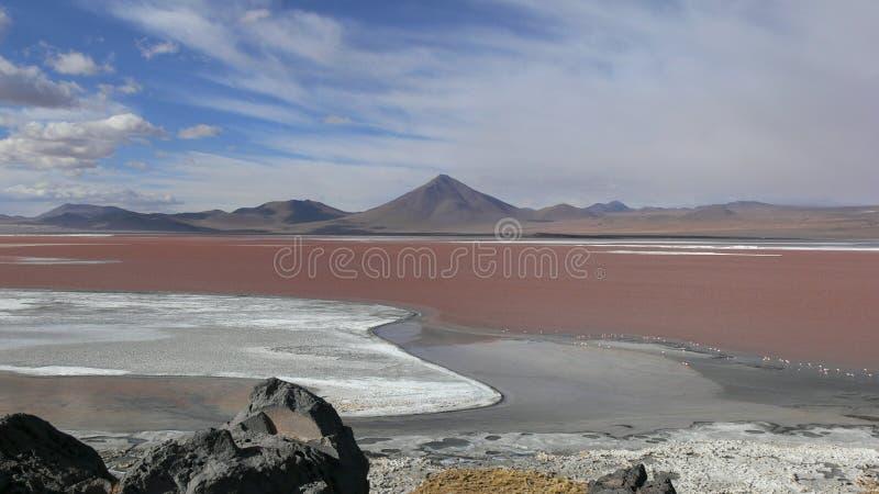 Lago vermelho fotografia de stock