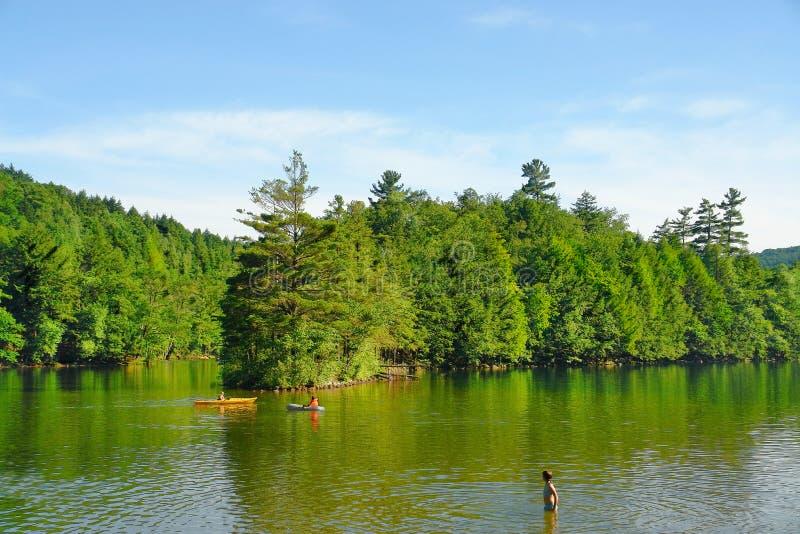 Lago vermont immagini stock