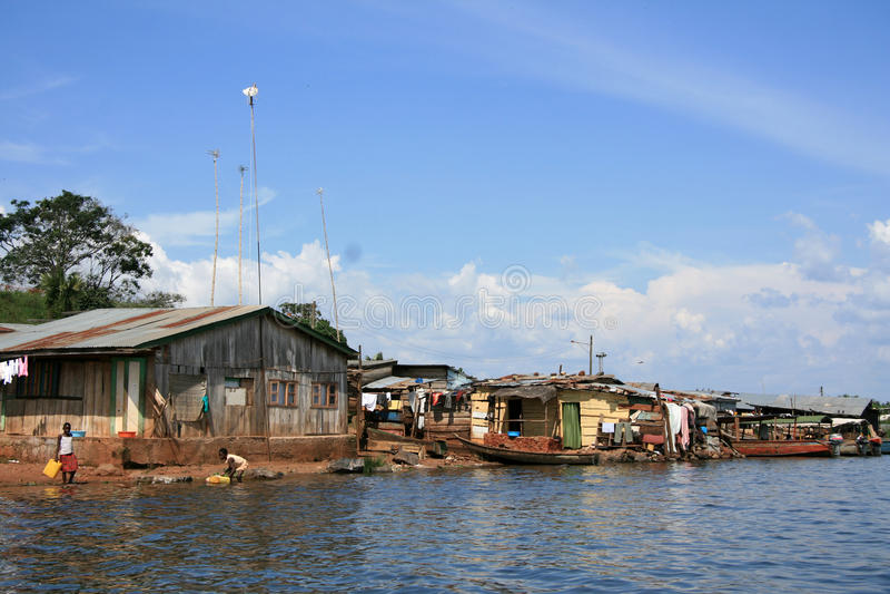 Lago Victoria - Uganda, África imagens de stock