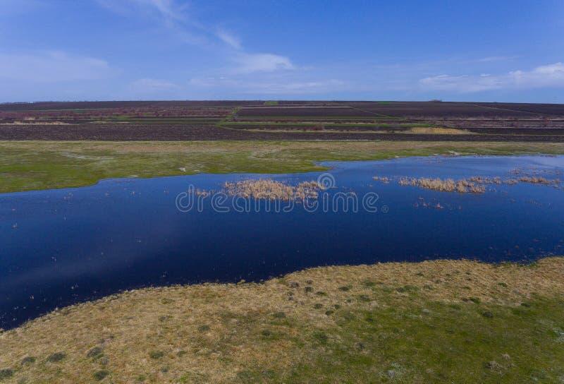 Lago view aérea fotos de archivo libres de regalías