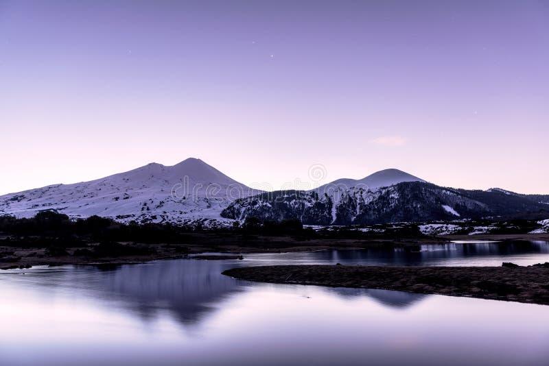 Lago Villarrica imagens de stock royalty free