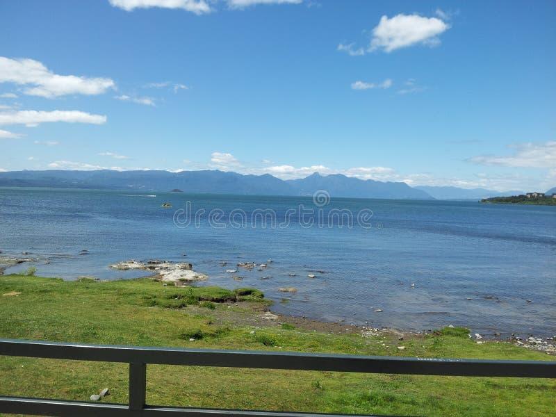 Lago Villarrica, IX região, o Chile foto de stock royalty free