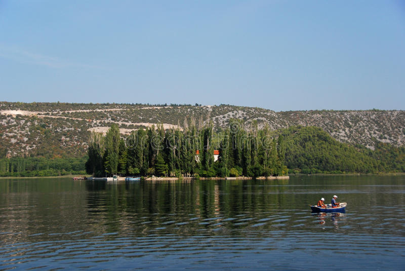 Lago Visovac fotos de stock