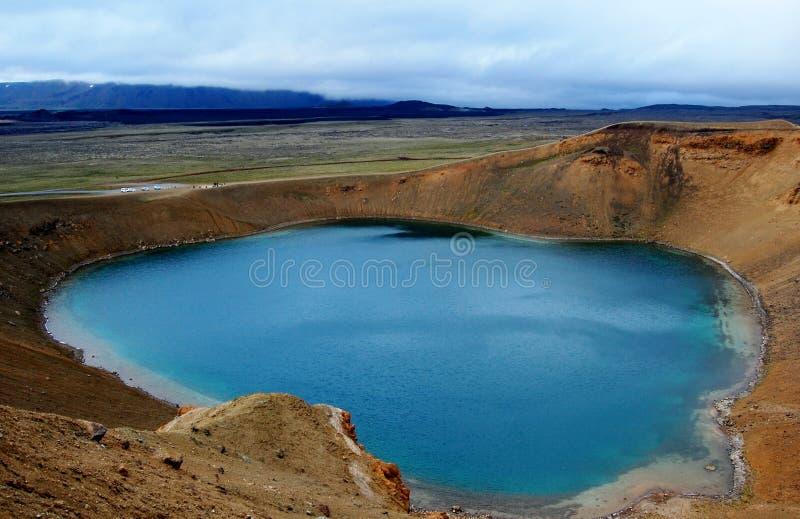 Lago Viti en la Islandia central fotos de archivo libres de regalías