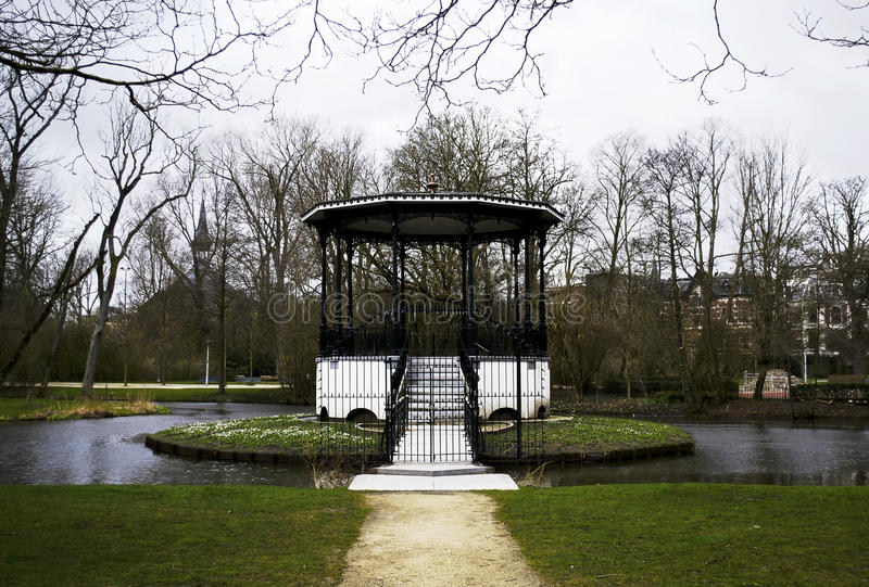 Lago Vondelpark imagem de stock