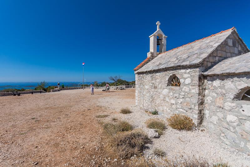Lago Vransko e islas de Kornati Visi?n desde la colina de Kamenjak Dalmacia, Croacia imagen de archivo libre de regalías