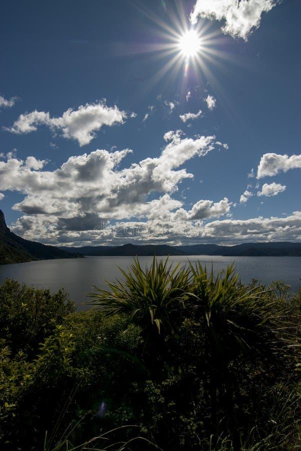 Lago Waikaremoana immagini stock