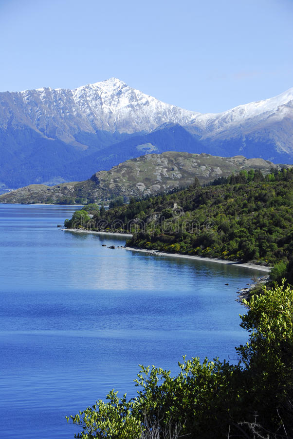 Lago Wakatipu imagem de stock royalty free