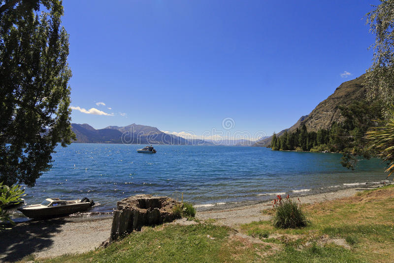 Lago Wakatipu, Queenstown imagen de archivo libre de regalías
