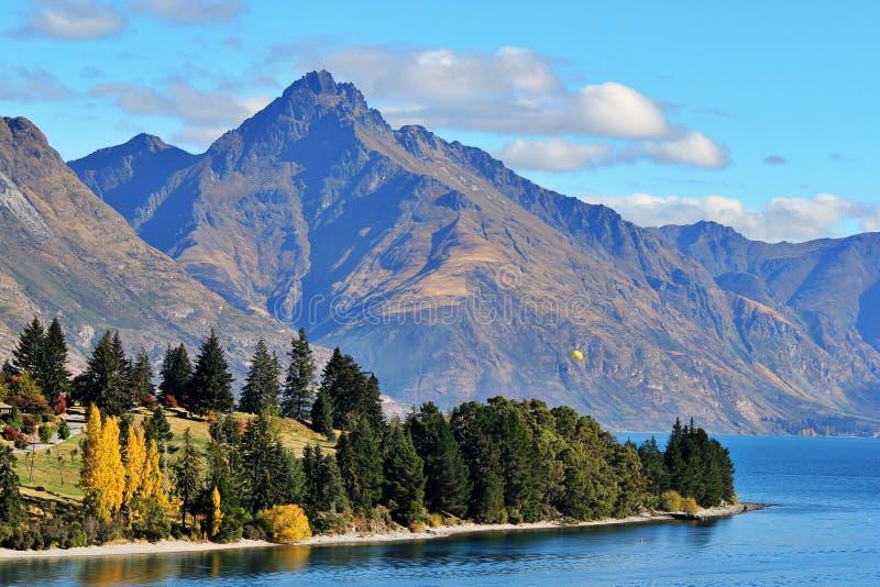 Lago Wakatipu, Queenstown, Nueva Zelanda foto de archivo