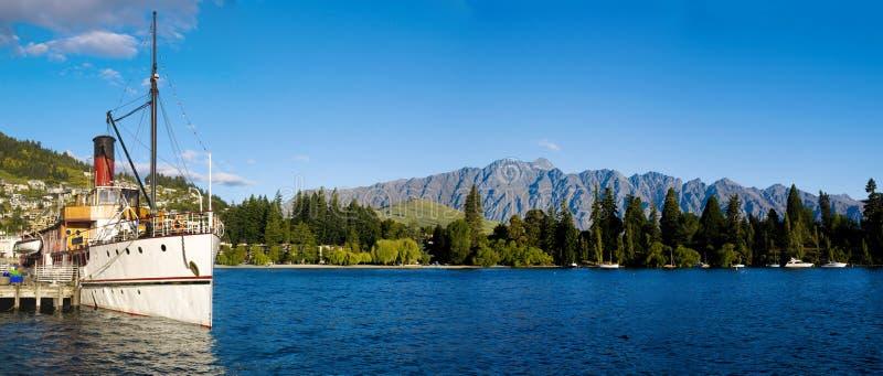 Lago Wakatipu Queenstown Nuova Zelanda immagini stock libere da diritti