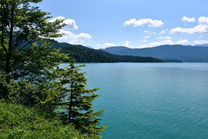 Lago Walchen foto de stock royalty free