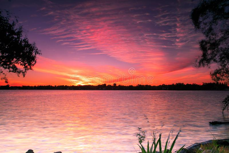 Lago Wilcox Richmond Hill sunset foto de stock royalty free