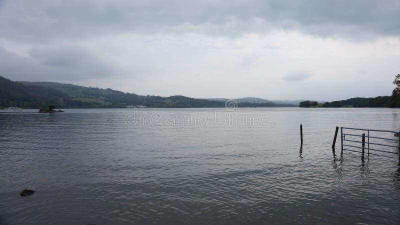 Lago Windemere em Cumbria imagens de stock royalty free