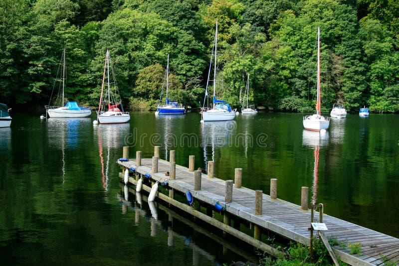 Lago Windermere, Cumbria Il Regno Unito fotografia stock