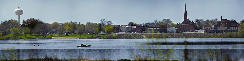 Lago Winsted imagenes de archivo