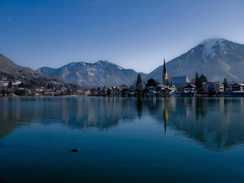 Lago winter imagen de archivo libre de regalías