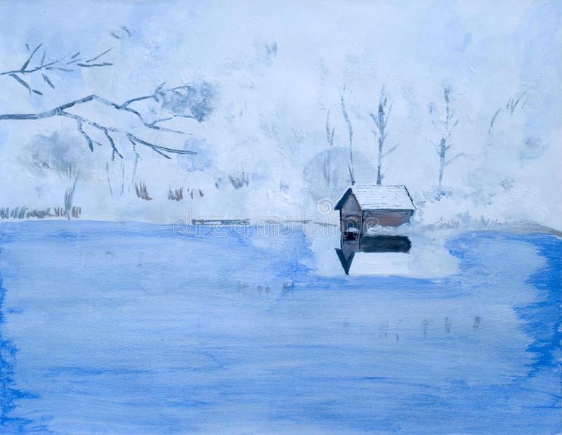 Lago winter fotos de stock royalty free