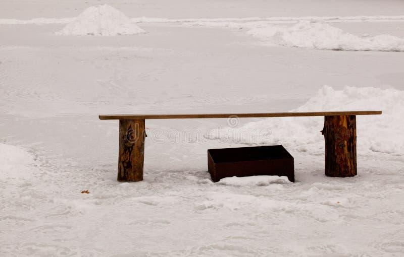 Lago winter fotografia de stock