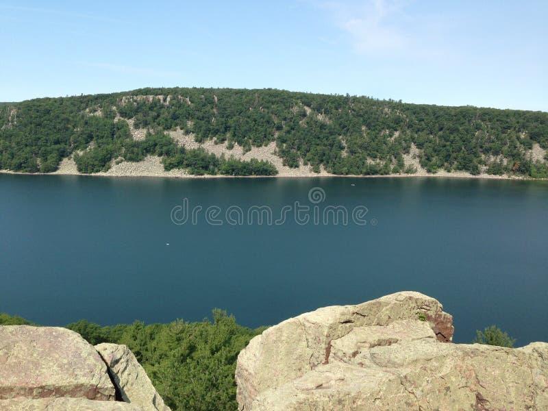 Lago wisconsin fotografia stock libera da diritti
