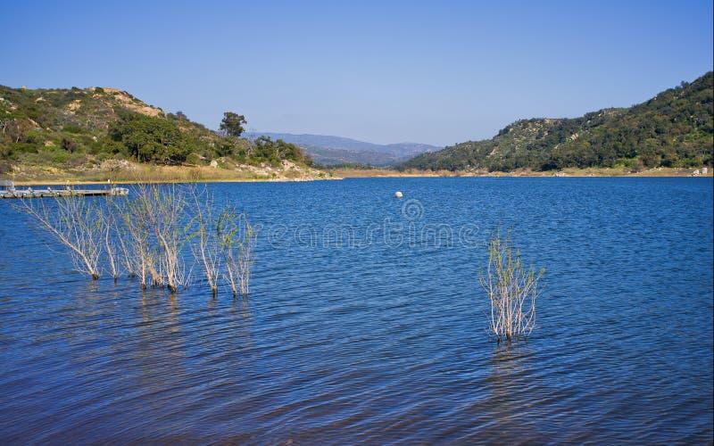 Lago Wohlford, condado de San Diego, Califórnia fotos de stock royalty free