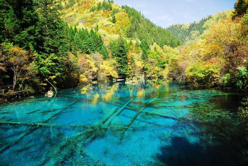 Lago Wu Hua no outono imagens de stock