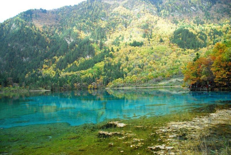 Lago Wu Hua no outono imagens de stock royalty free