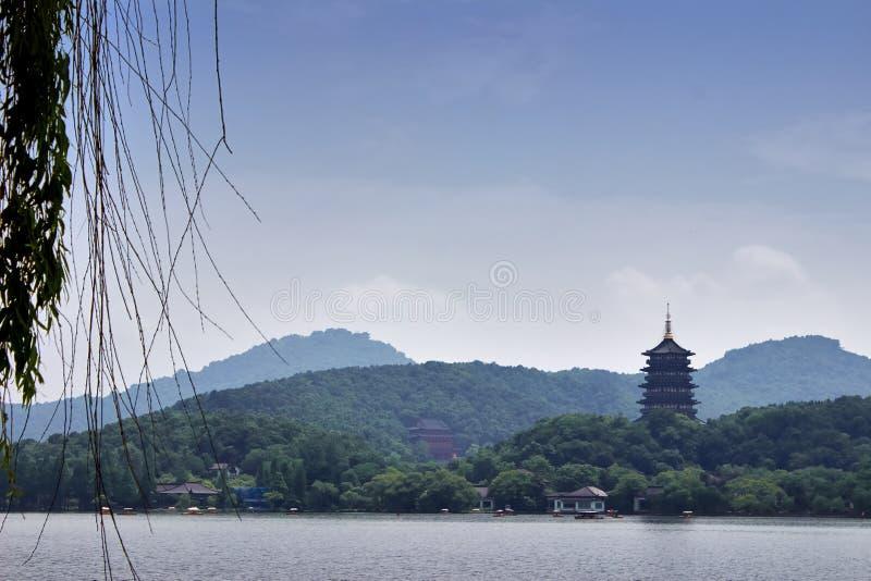 Lago Xihu, señal de Hangzhou, China foto de archivo libre de regalías