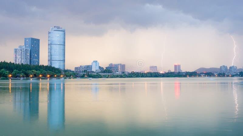 Lago Xuanwu foto de stock royalty free