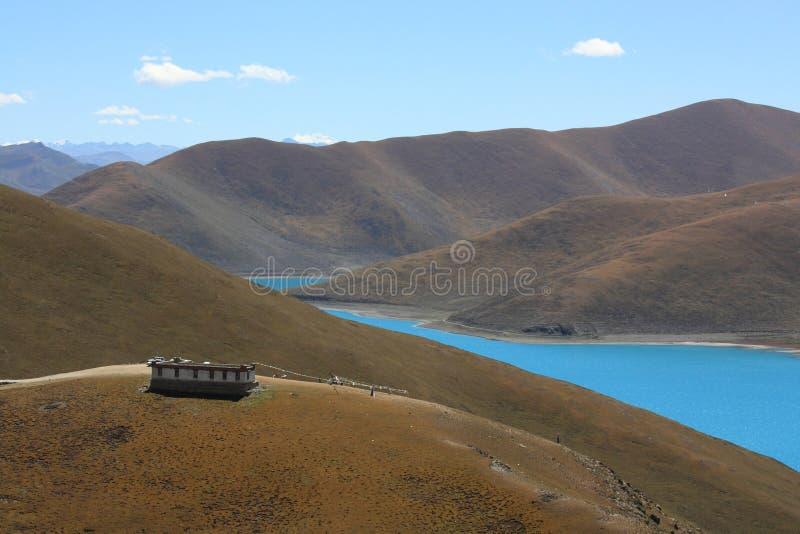 Lago Yamdrok immagini stock