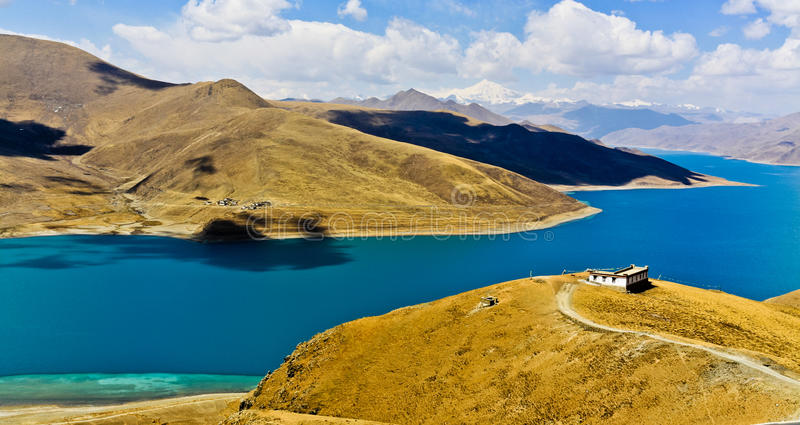 Lago Yamdrok foto de stock royalty free