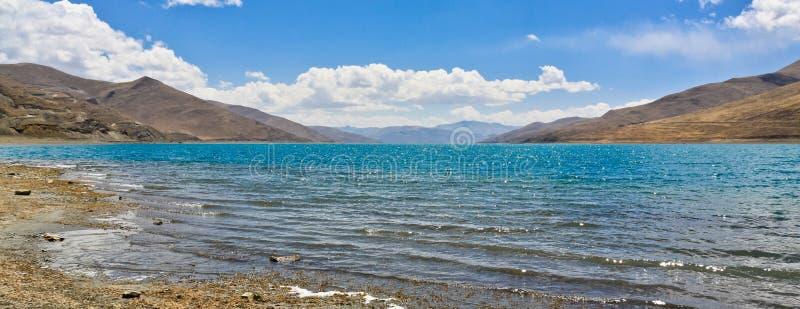 Lago Yamdrok fotos de stock royalty free