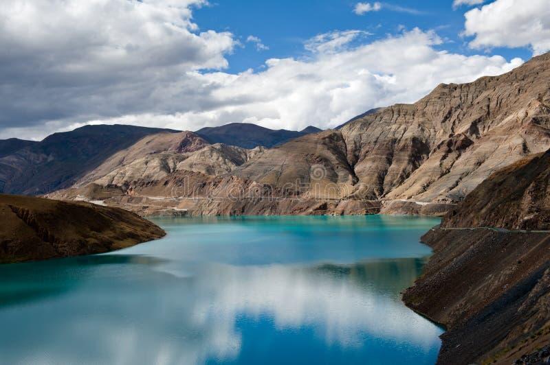 Lago Yamdrok imagens de stock