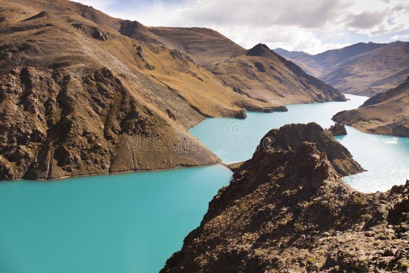 Lago Yamdrok Yumsto nel Tibet immagini stock libere da diritti