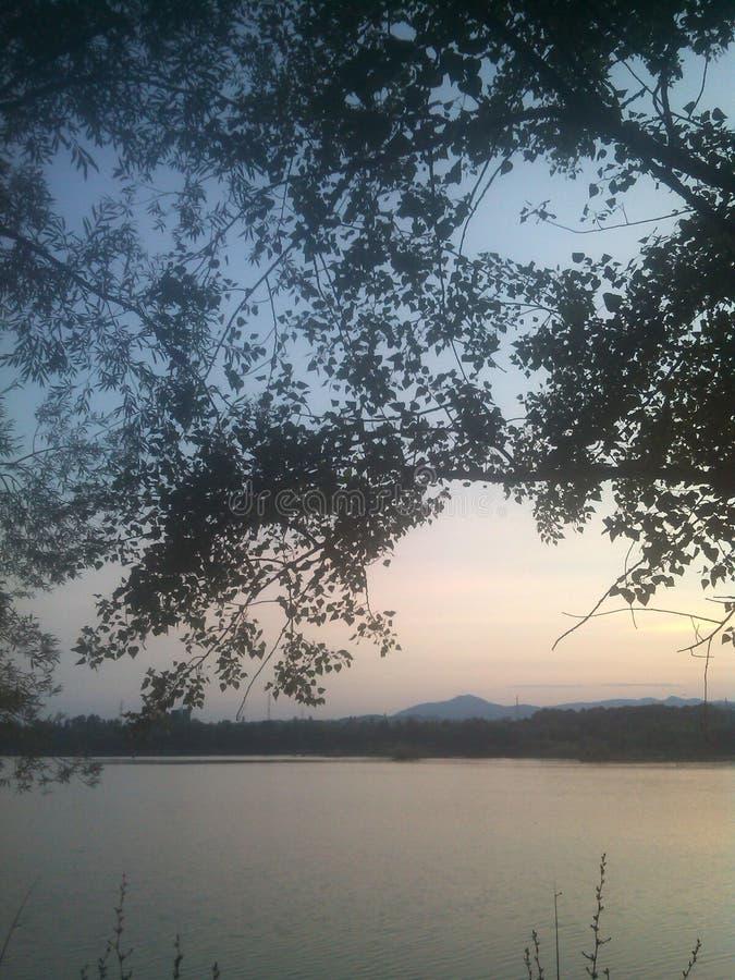 Lago, Zagabria immagine stock