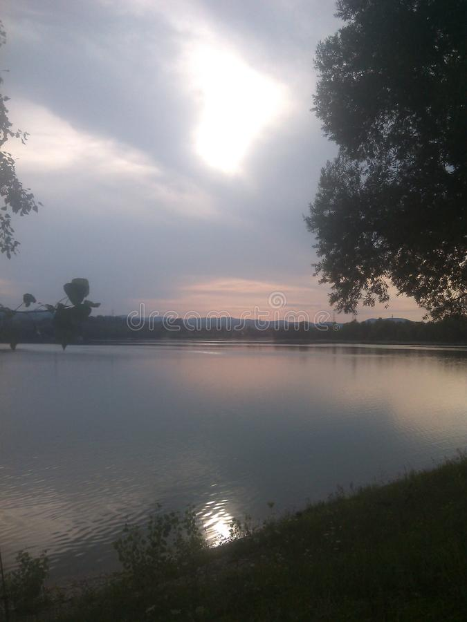 Lago a Zagabria fotografie stock libere da diritti
