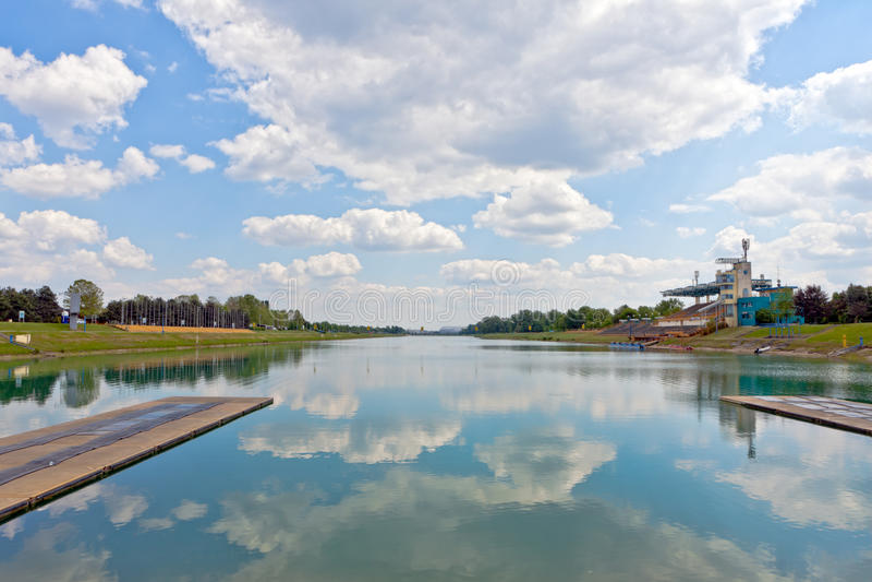Lago Zagabria Jarun fotografie stock