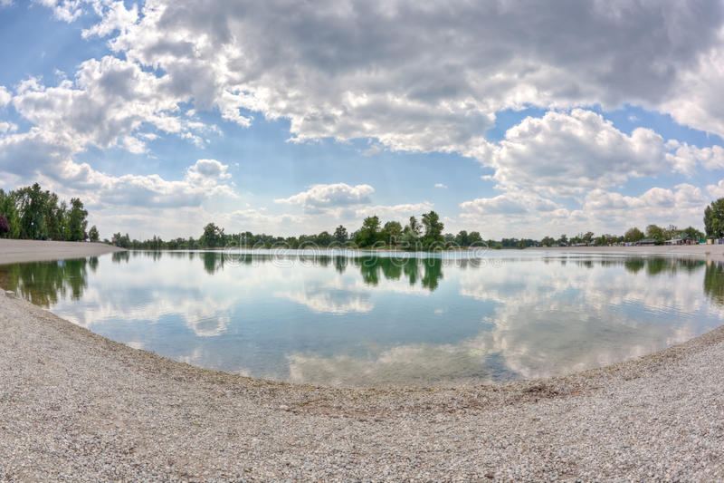 Lago Zagreb Jarun fotografia de stock
