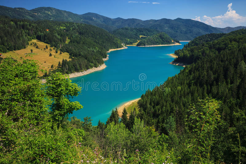 Lago Zaovine imagens de stock
