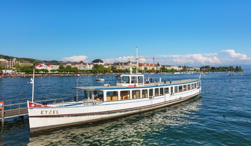 Lago Zurich en Suiza fotografía de archivo