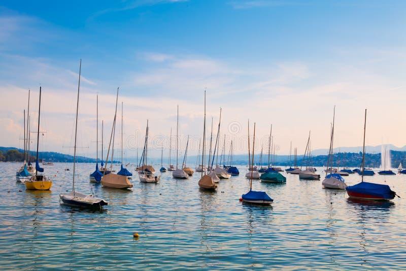 Lago Zurich, Suiza foto de archivo libre de regalías