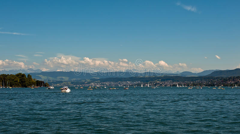 Lago Zurique fotografia de stock royalty free
